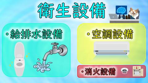 衛生設備-内の消火設備イメージ