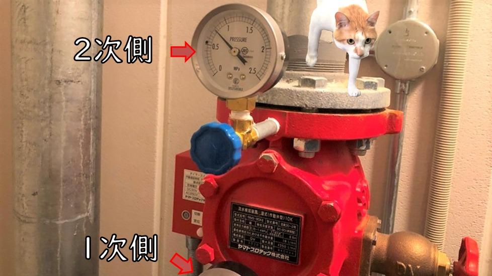 圧力計(2次側)アラーム弁