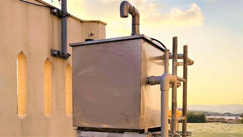 屋上の補給水槽