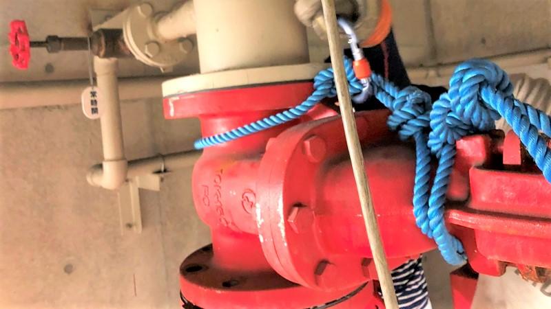 150Aバルブ ロープ固定