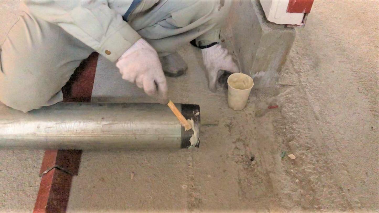 配管 接着シール剤 塗布