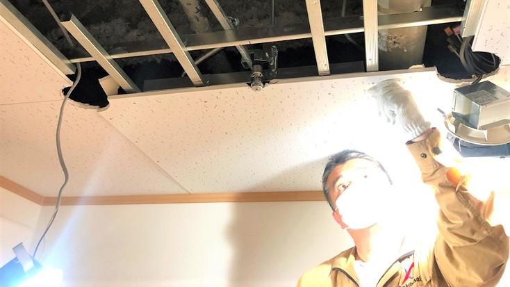 天井ボード スプリンクラーヘッド