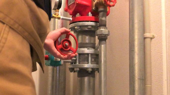 流水検知装置 仕切弁