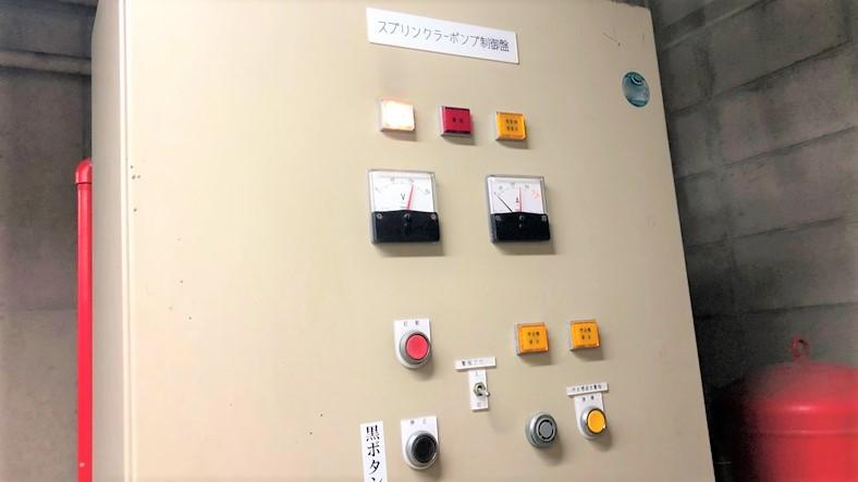 スプリンクラーポンプ 制御盤