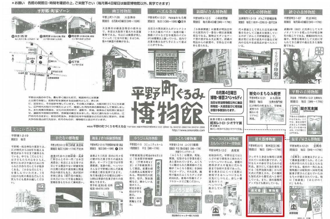 平野町ぐるみ博物館 消火器