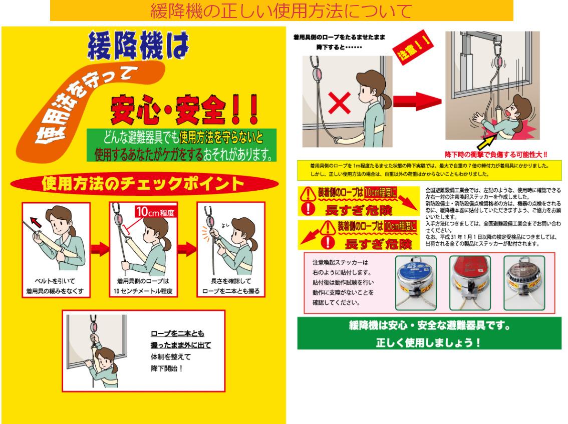 緩降機 使用方法