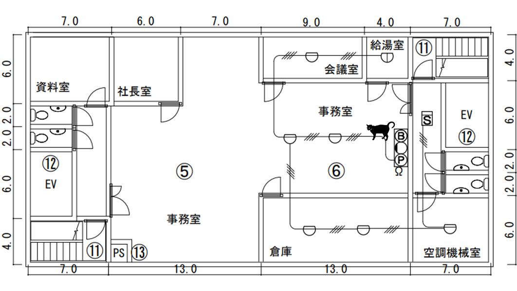 自動火災報知設備 感知器 設備図