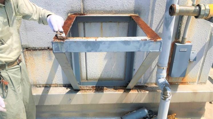 補給水槽架台 塗装