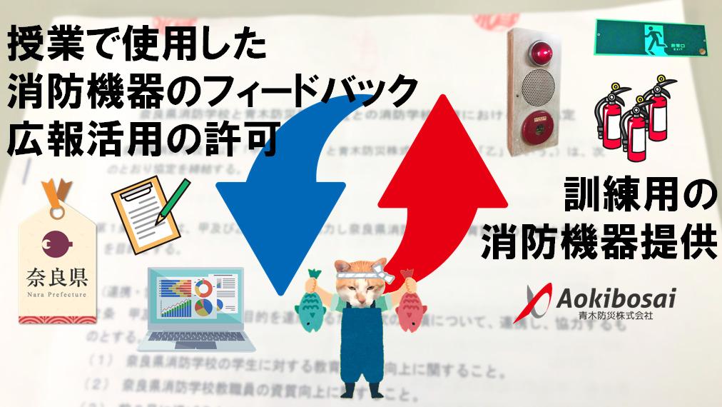 奈良県消防学校 青木防災㈱ 連携協定