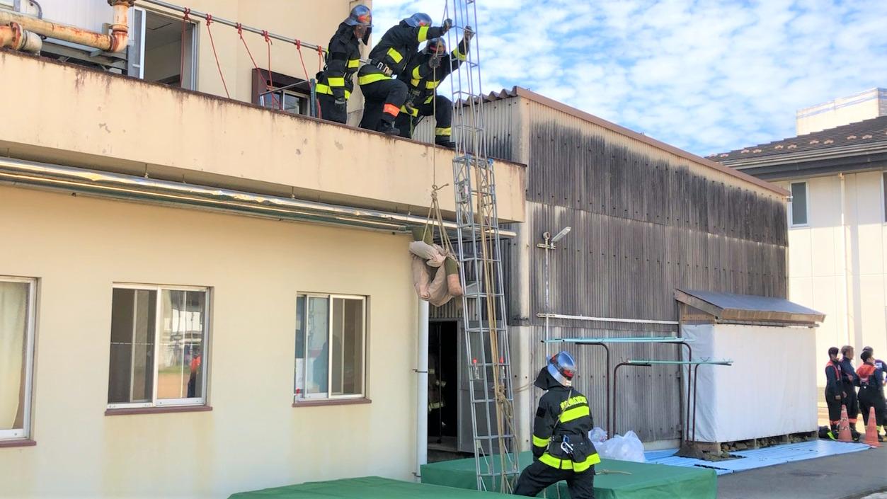 要救助者 ロープ救出