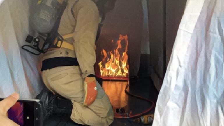 消防訓練 機器
