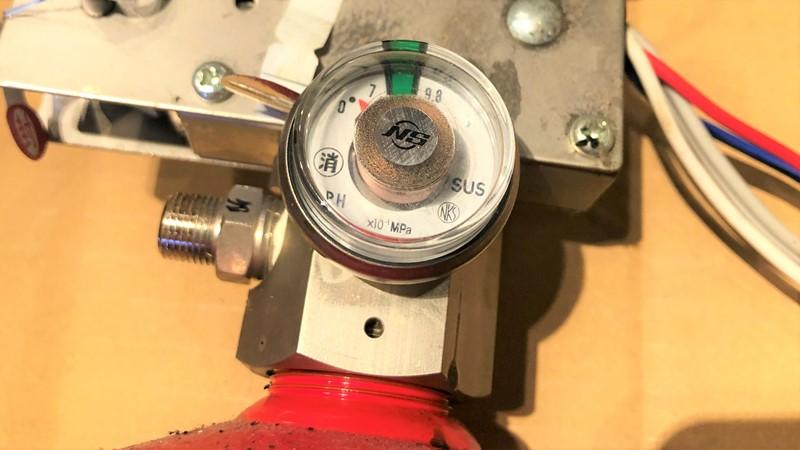 ダクト消火設備 蓄圧ゲージ